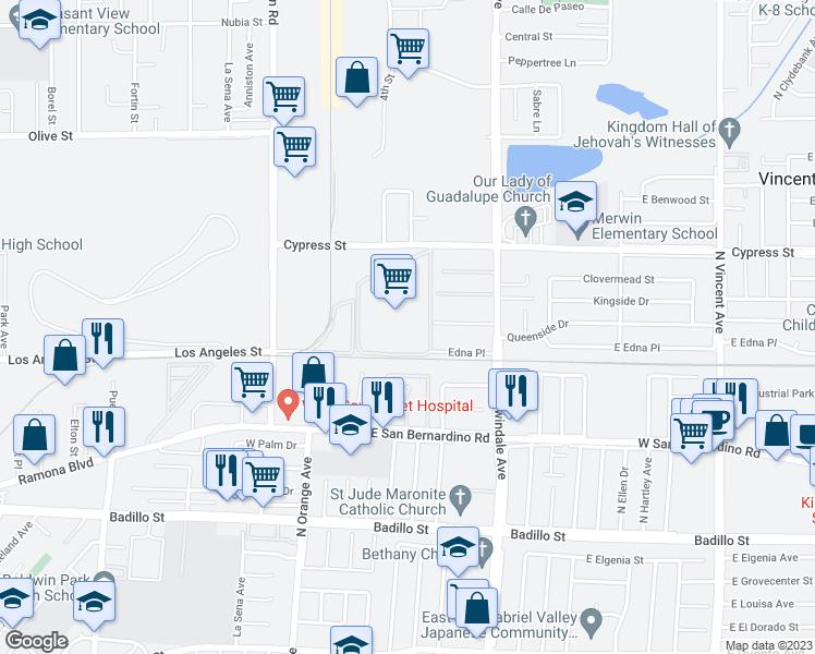Irwindale California Map.4401 Foxdale Street Irwindale Ca Walk Score