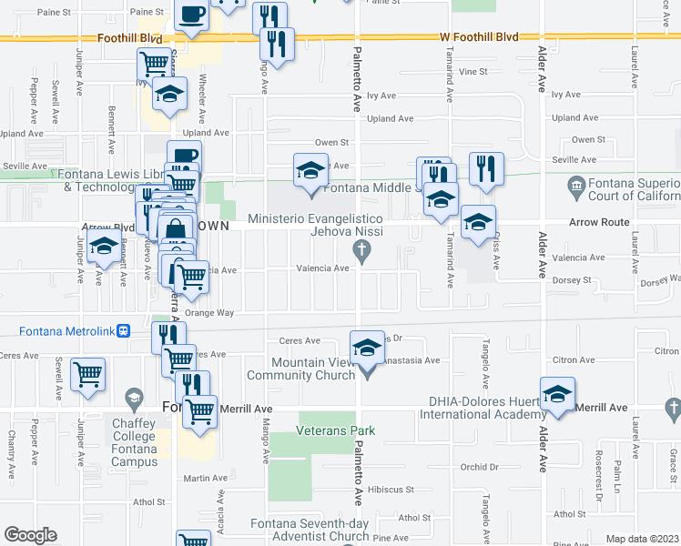 17261 Valencia Avenue, Fontana CA - Walk Score on new kaiser hospital downey ca, kaiser hospital san rafael ca, map of kaiser in south ca, kaiser permenete harbor city ca,