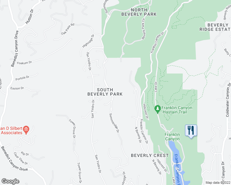 map of restaurants, bars, coffee shops, grocery stores, and more near 10 Beverly Park in Beverly Hills
