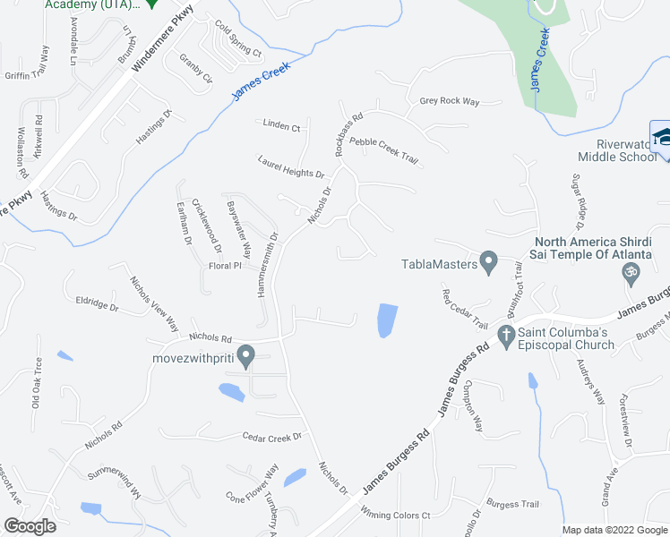 map of restaurants, bars, coffee shops, grocery stores, and more near 375 Blackwood Lane in Suwanee