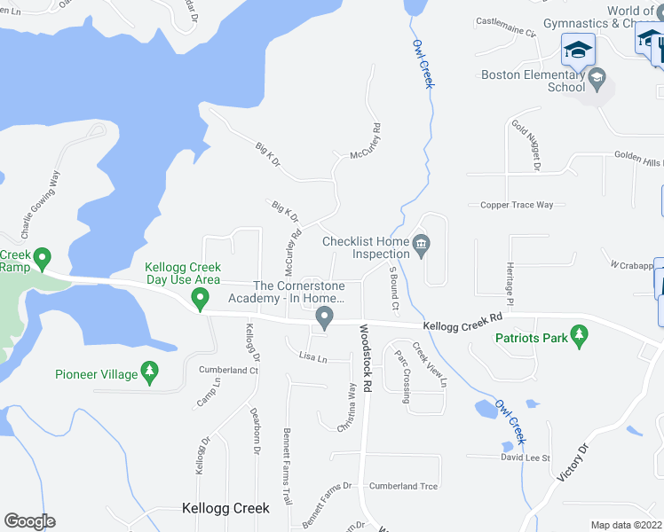 map of restaurants, bars, coffee shops, grocery stores, and more near High Water Court in Acworth
