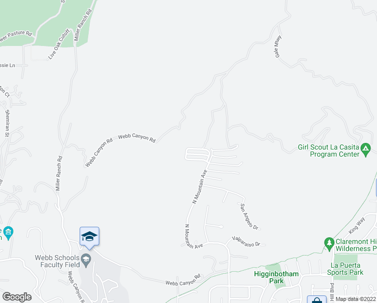 map of restaurants, bars, coffee shops, grocery stores, and more near 894 Highpoint Drive in Claremont