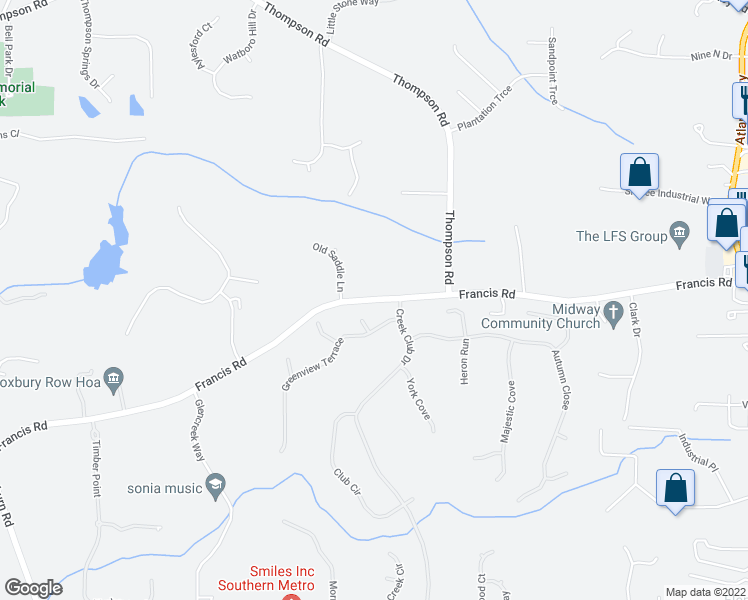map of restaurants, bars, coffee shops, grocery stores, and more near 320 Riley View Court in Alpharetta