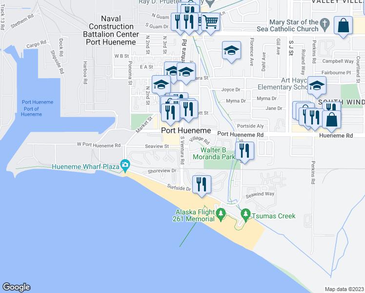 South Ventura Road Seaview Street Port Hueneme Ca Walk Score