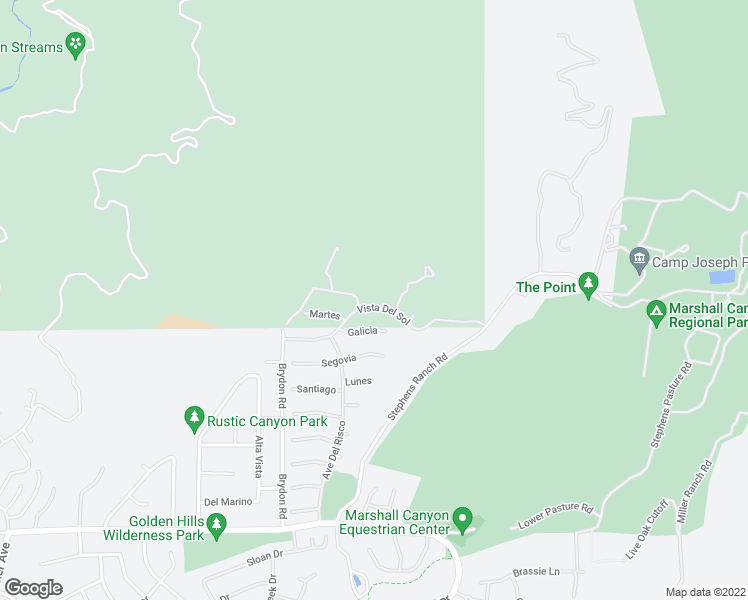 map of restaurants, bars, coffee shops, grocery stores, and more near 2555 Vista Del Sol in La Verne