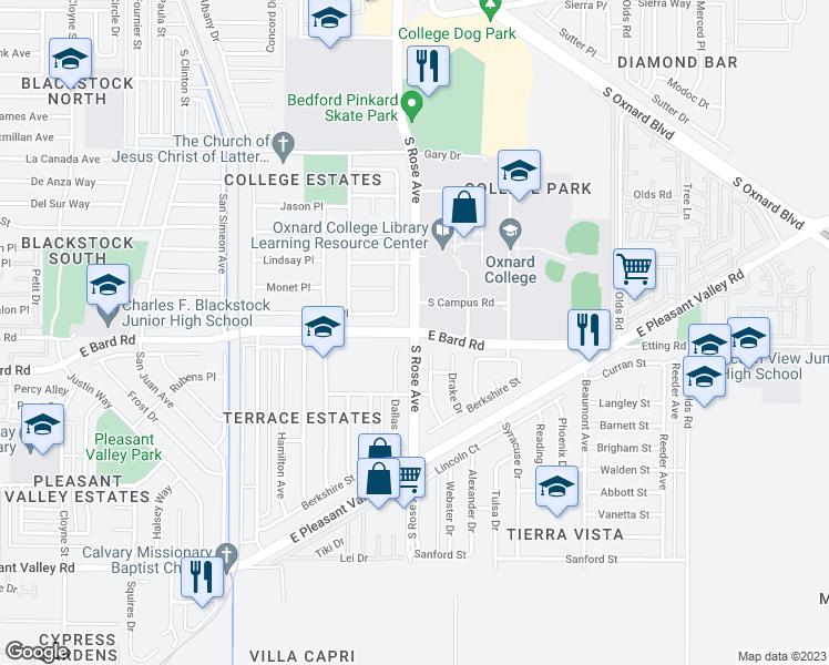 S Rose Ave & Bard Rd, Oxnard CA - Walk Score