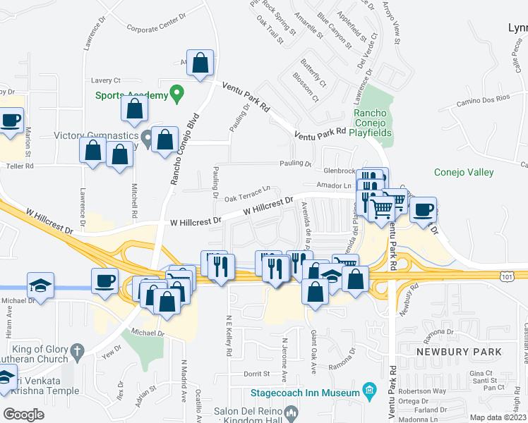 West Hillcrest Drive Thousand Oaks CA Walk Score - Thousand oaks map