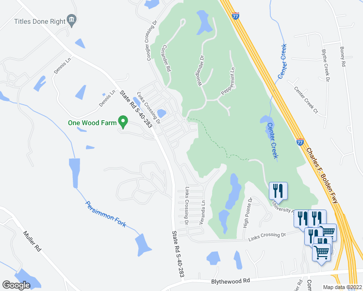 map of restaurants, bars, coffee shops, grocery stores, and more near 14 Easy Keeper Lane in Blythewood