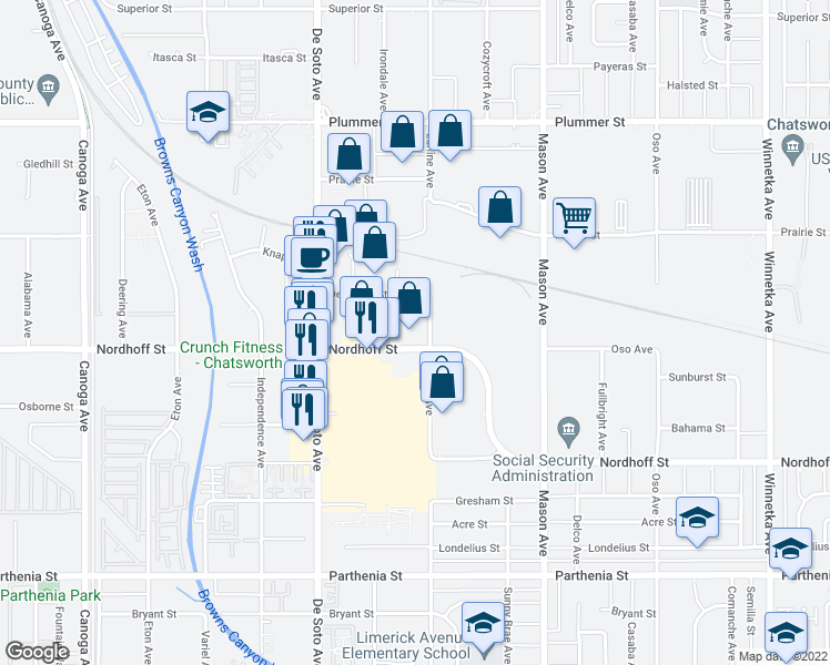 Map Of Restaurants Bars Coffee Shops Grocery Stores And More Near 20701