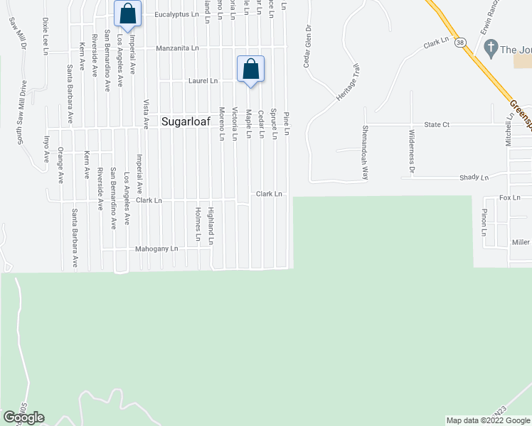 map of restaurants, bars, coffee shops, grocery stores, and more near 745 Cedar Lane in Big Bear