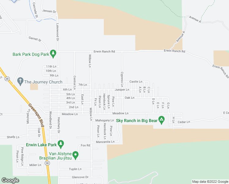 map of restaurants, bars, coffee shops, grocery stores, and more near 858 Pine Lane in Big Bear