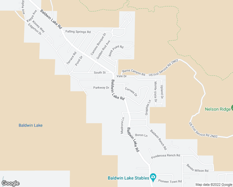 map of restaurants, bars, coffee shops, grocery stores, and more near 1581 Baldwin Lake Road in Big Bear
