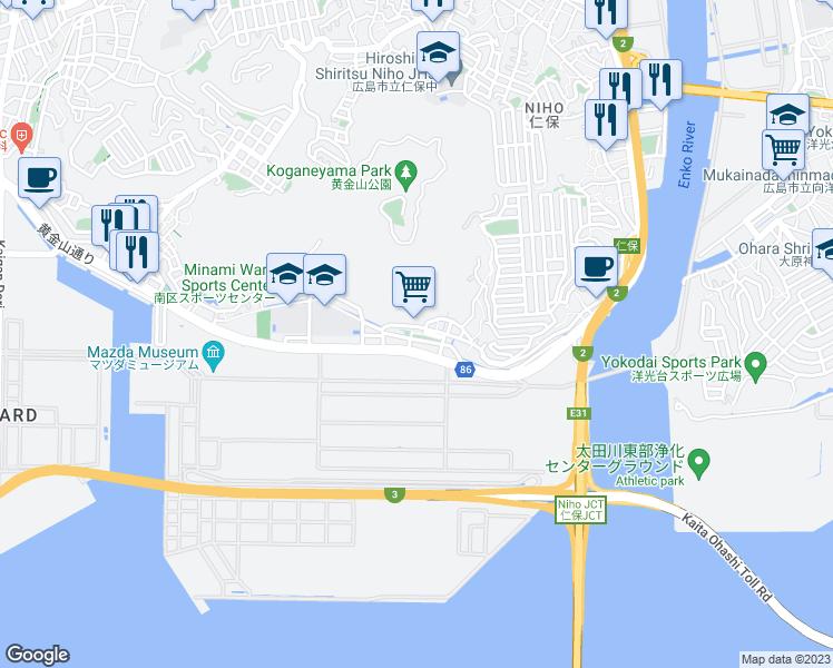 Minami Ward Hiroshima Prefecture - Walk Score