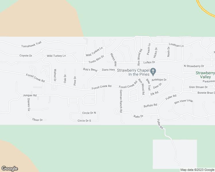 8998 Fossil Creek Rd, Strawberry AZ - Walk Score on
