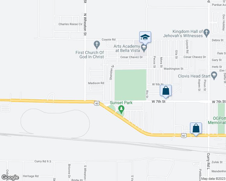 3525 Sheridan Street, Clovis NM - Walk Score
