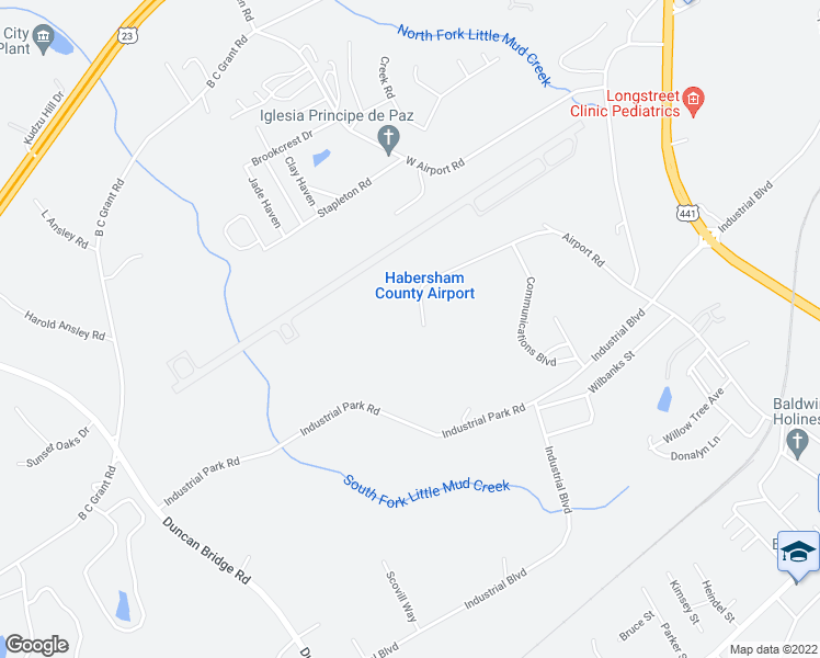 map of restaurants, bars, coffee shops, grocery stores, and more near 505 Runway Drive in Alto