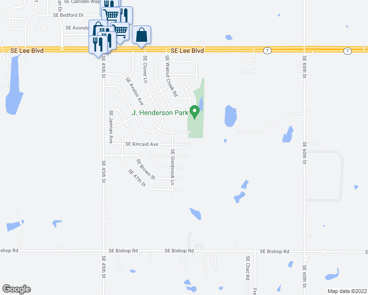 map of restaurants, bars, coffee shops, grocery stores, and more near 5009 Southeast Kincaid Avenue in Lawton