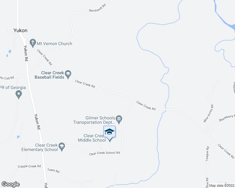 map of restaurants, bars, coffee shops, grocery stores, and more near 1020 Clear Creek Road in Ellijay