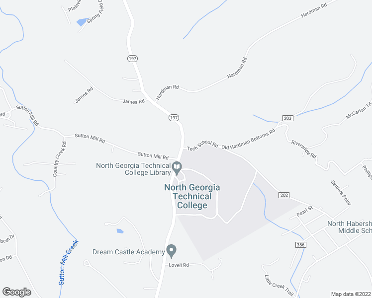 map of restaurants, bars, coffee shops, grocery stores, and more near 802-810 Tech School Road in Clarkesville