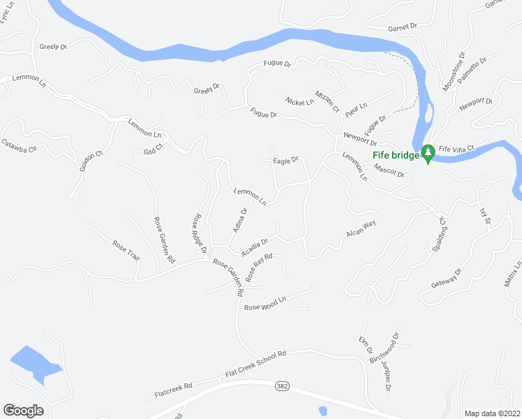 map of restaurants, bars, coffee shops, grocery stores, and more near Gild Court in Ellijay