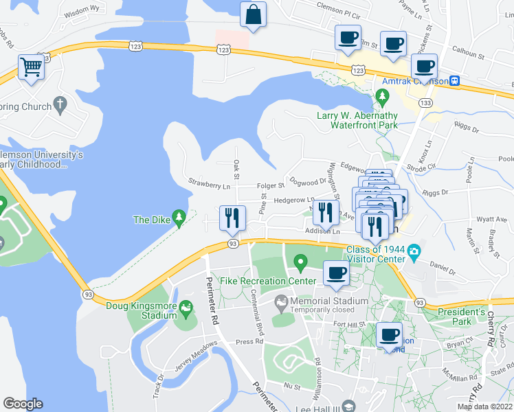 203 Pine Street, Clemson SC - Walk Score Clemson University Map on