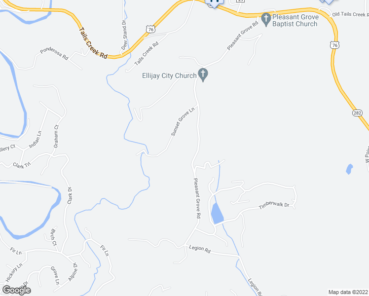map of restaurants, bars, coffee shops, grocery stores, and more near 774 Pleasant Grove Road in Ellijay