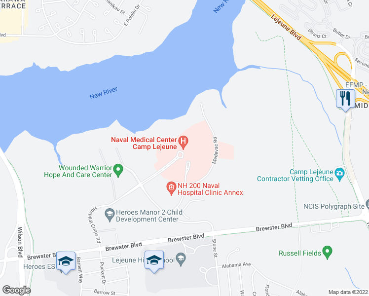 100 Brewster Boulevard, Jacksonville NC - Walk Score on map camp lejeune 1 edition, map of camp johnson nc, camp geiger nc, map of camp geiger marine base,
