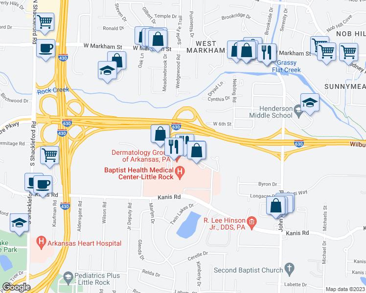 Baptist Health Little Rock Map