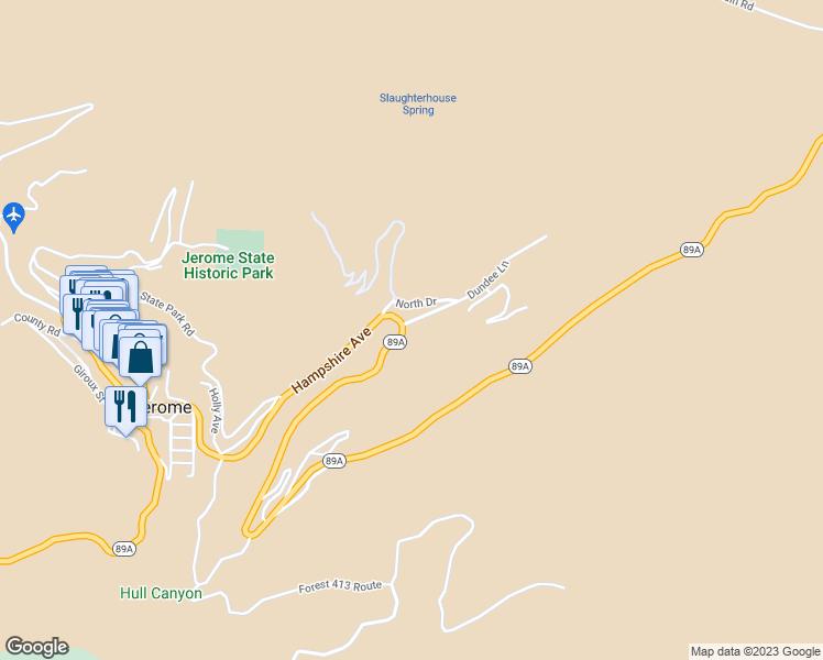 Map Of Arizona Jerome.902 Hampshire Avenue Jerome Az Walk Score