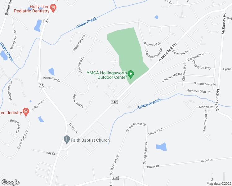 map of restaurants, bars, coffee shops, grocery stores, and more near 344-398 Adams Mill Road i