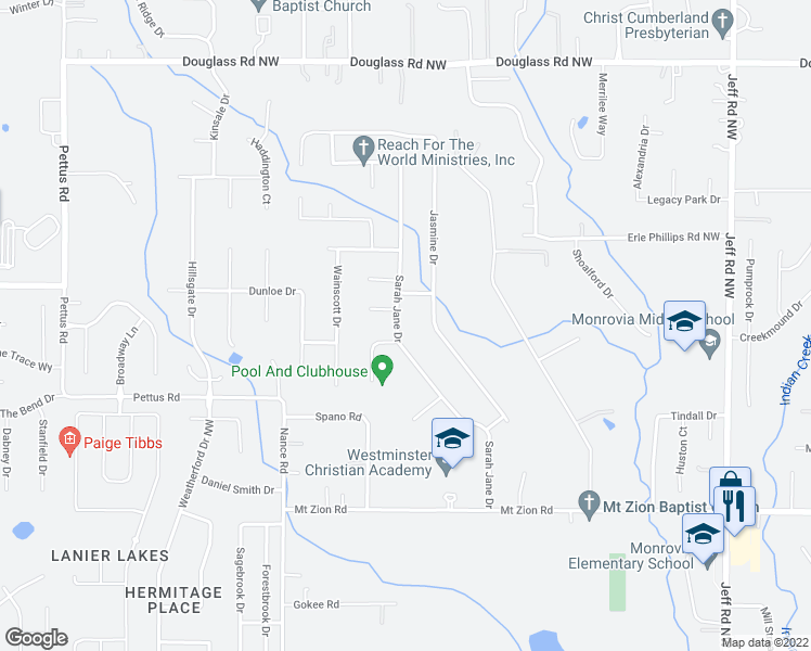 map of restaurants, bars, coffee shops, grocery stores, and more near 153 Sarah Jane Drive in Madison