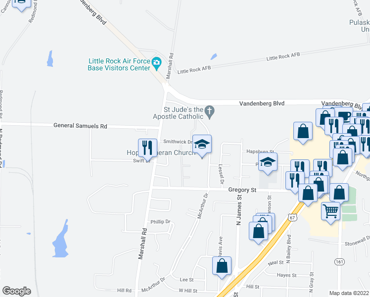 map of restaurants, bars, coffee shops, grocery stores, and more near 1310 Smithwick Drive in Jacksonville