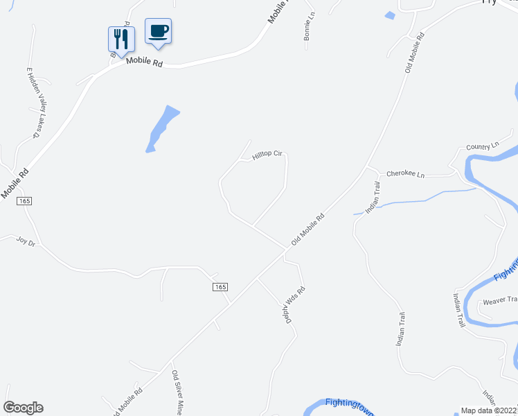 map of restaurants, bars, coffee shops, grocery stores, and more near 191 Hilltop Circle in McCaysville