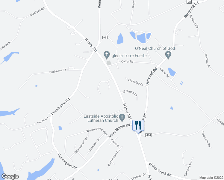 map of restaurants, bars, coffee shops, grocery stores, and more near 23 Azure Lane in Greer