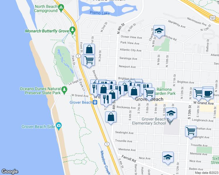 Map Of Restaurants Bars Coffee S Grocery Ore Near 311