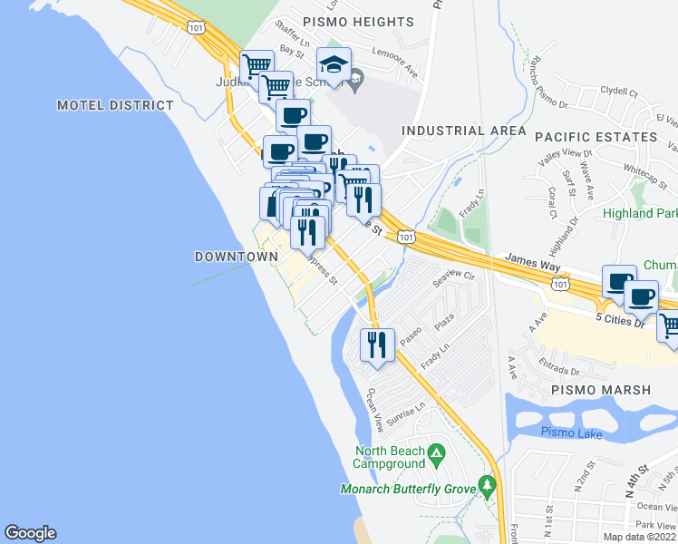 230 Ocean View Avenue Pismo Beach Ca Walk Score