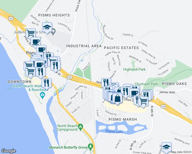 Map Of Restaurants Bars Coffee S Grocery Ore Near 2