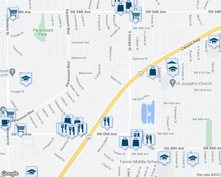 Map Of Texas Amarillo.4320 Canyon Drive Amarillo Tx Walk Score
