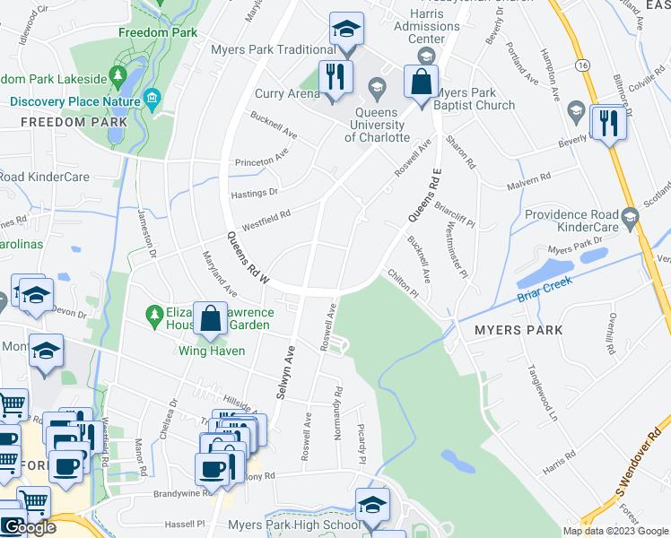 Freedom Park Charlotte Nc Map.2320 Roswell Avenue Charlotte Nc Walk Score