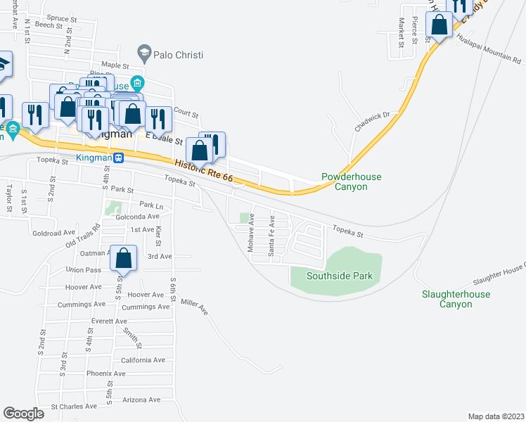 Map Of Arizona Kingman.926 Topeka Street Kingman Az Walk Score