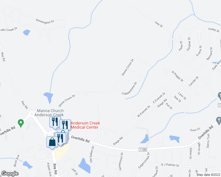 map of restaurants, bars, coffee shops, grocery stores, and more near 697 Stone Cross Drive in Spring Lake