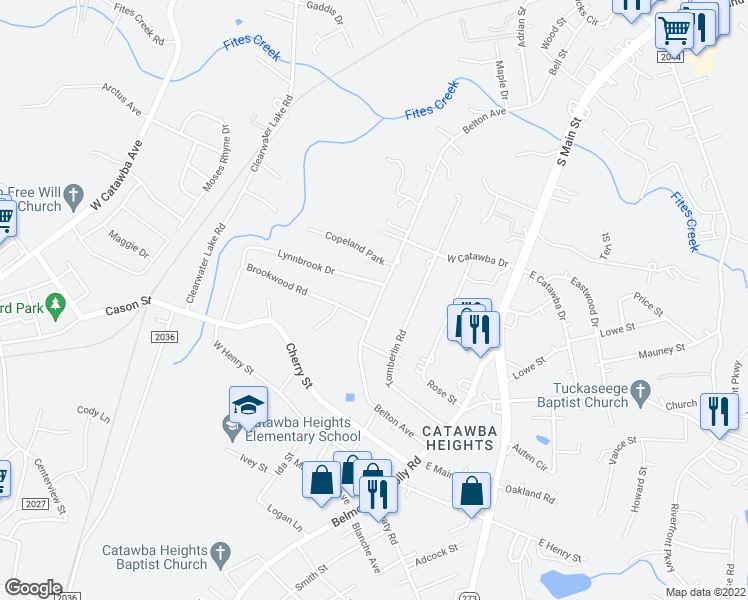 map of restaurants, bars, coffee shops, grocery stores, and more near 317 Belton Avenue in Mount Holly