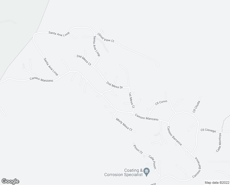 map of restaurants, bars, coffee shops, grocery stores, and more near 50 Calle Chamisa in Placitas