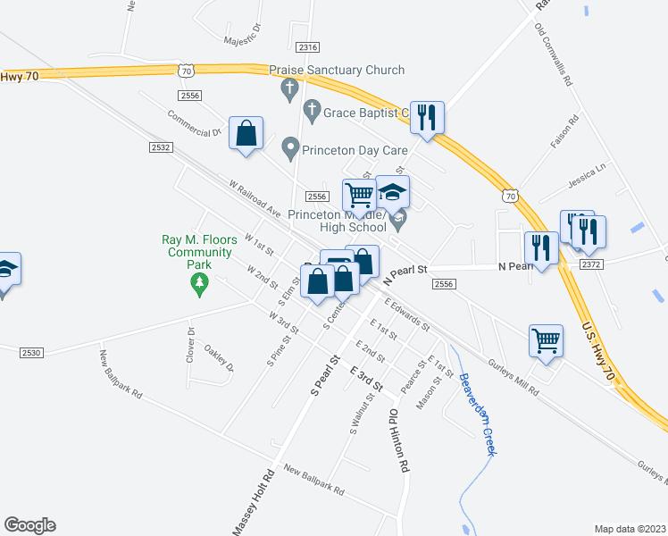 Princeton Nc Map.Princeton Nc Walk Score