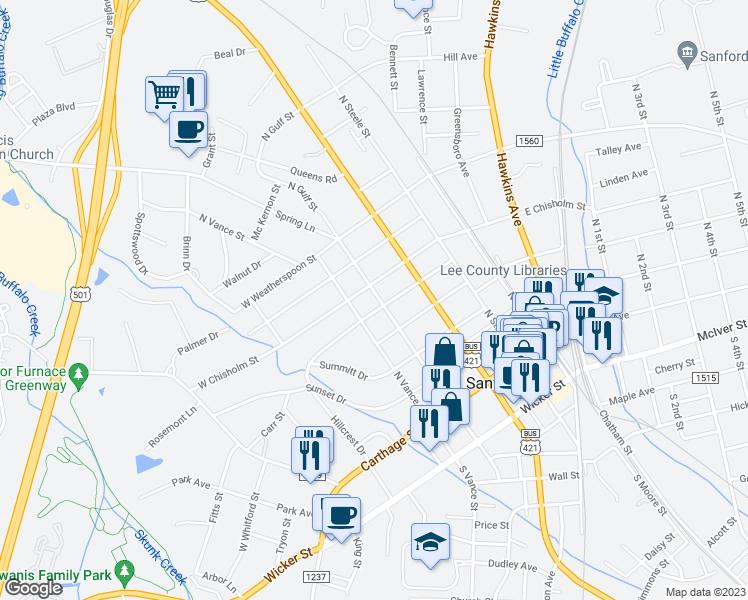 319 North Gulf Street, Sanford NC - Walk Score on