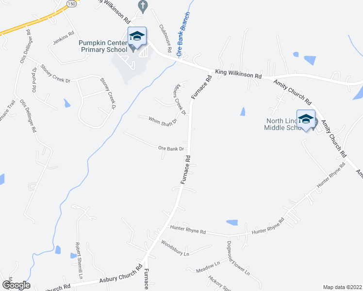 map of restaurants, bars, coffee shops, grocery stores, and more near 4241 Ore Bank Drive in Lincolnton