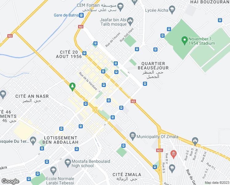 Rue Larbi Tebessi, Batna Batna - Walk Score