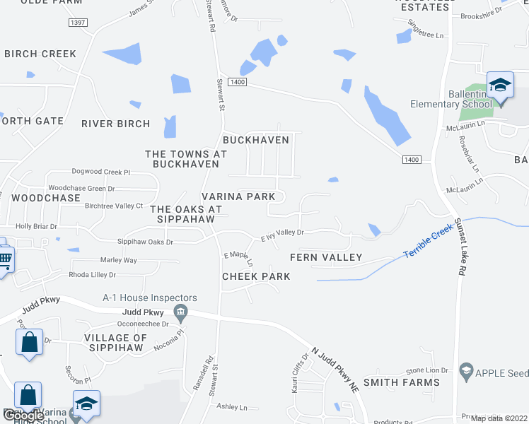 map of restaurants, bars, coffee shops, grocery stores, and more near 909 Jaybird Lane in Fuquay-Varina