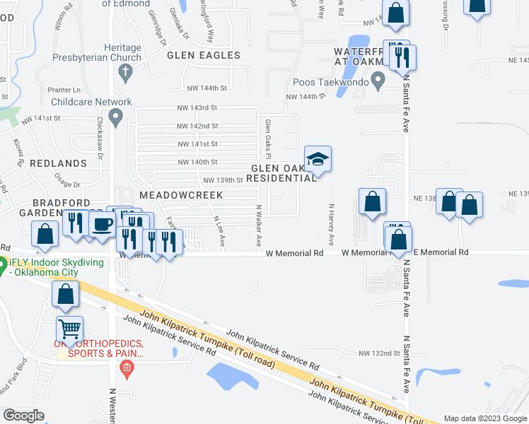 13801 Glen Oaks Place, Oklahoma City OK - Walk Score