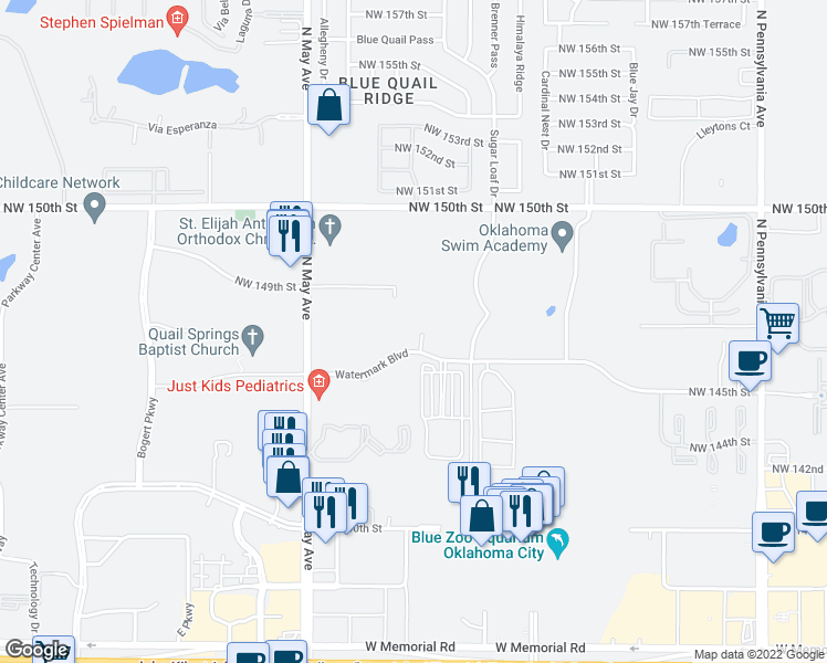 Jay Oklahoma Map.2701 Watermark Boulevard Oklahoma City Ok Walk Score